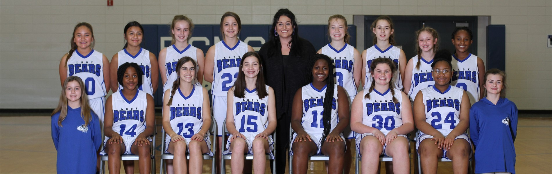 6/7th Grade girls basketball team